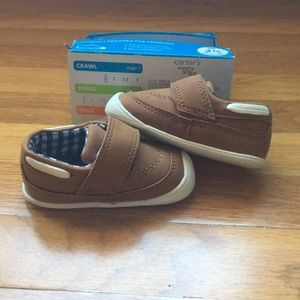 Never worn! Carters every step baby crawling shoes